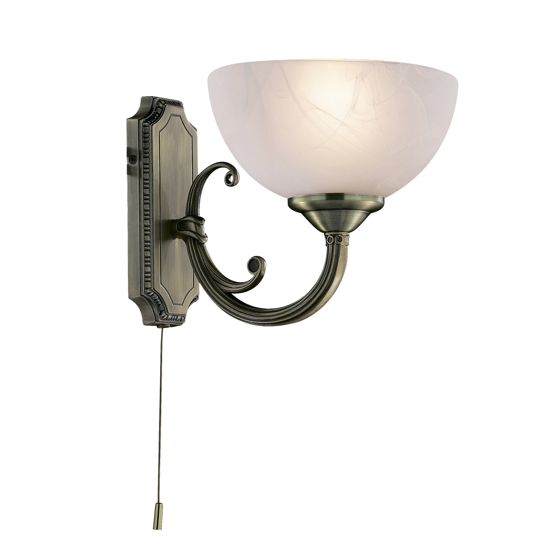 Бра Odeon lightНастенные светильники и бра<br>Тип: бра,<br>Назначение светильника: для комнаты,<br>Стиль светильника: классика,<br>Материал светильника: металл, стекло,<br>Тип лампы: накаливания,<br>Количество ламп: 1,<br>Мощность: 40,<br>Патрон: Е14,<br>Цвет арматуры: бронза,<br>Ширина: 175,<br>Высота: 180<br>