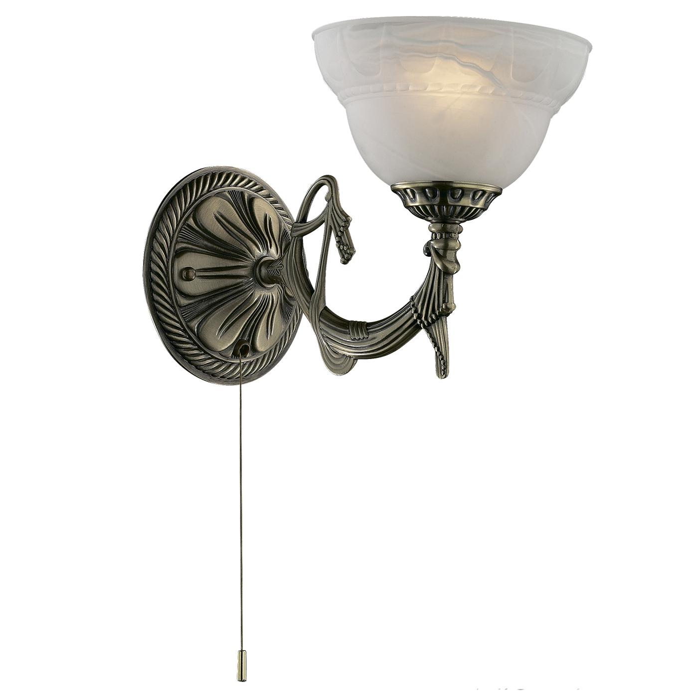 Бра Odeon lightНастенные светильники и бра<br>Тип: бра,<br>Назначение светильника: для комнаты,<br>Стиль светильника: классика,<br>Материал светильника: металл, стекло,<br>Тип лампы: накаливания,<br>Количество ламп: 1,<br>Мощность: 40,<br>Патрон: Е14,<br>Цвет арматуры: бронза,<br>Ширина: 165,<br>Высота: 250<br>