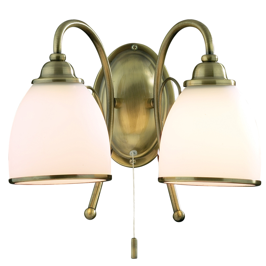 Бра Odeon lightНастенные светильники и бра<br>Тип: бра,<br>Назначение светильника: для комнаты,<br>Стиль светильника: классика,<br>Материал светильника: металл, стекло,<br>Тип лампы: накаливания,<br>Количество ламп: 2,<br>Мощность: 60,<br>Патрон: Е27,<br>Цвет арматуры: бронза,<br>Ширина: 350,<br>Высота: 240<br>