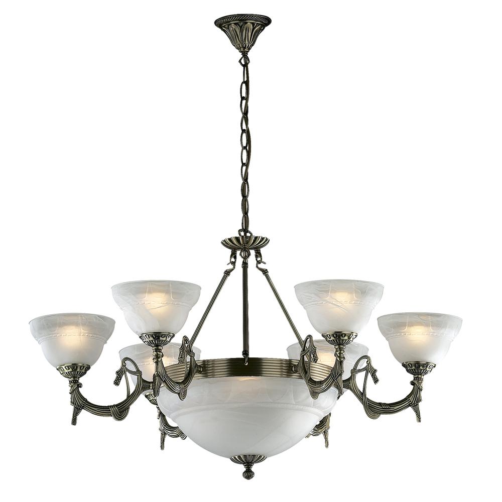 Люстра Odeon lightЛюстры<br>Назначение светильника: для комнаты,<br>Стиль светильника: классика,<br>Тип: подвесная,<br>Материал светильника: металл, стекло,<br>Материал плафона: стекло,<br>Материал арматуры: металл,<br>Ширина: 830,<br>Высота: 470,<br>Количество ламп: 9,<br>Тип лампы: накаливания,<br>Мощность: 4,<br>Патрон: Е14,<br>Цвет арматуры: бронза,<br>Вес нетто: 6.22<br>
