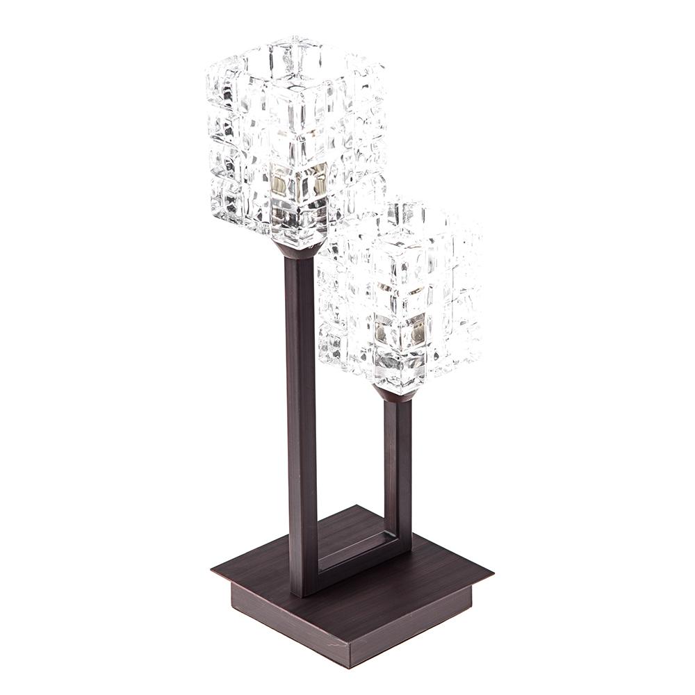 Лампа настольная Odeon lightЛампы настольные<br>Тип настольной лампы: декоративная,<br>Назначение светильника: для комнаты,<br>Стиль светильника: модерн,<br>Материал светильника: металл, стекло,<br>Длина (мм): 130,<br>Ширина: 160,<br>Высота: 385,<br>Количество ламп: 2,<br>Тип лампы: галогенная,<br>Мощность: 40,<br>Патрон: G9,<br>Цвет арматуры: дерево<br>
