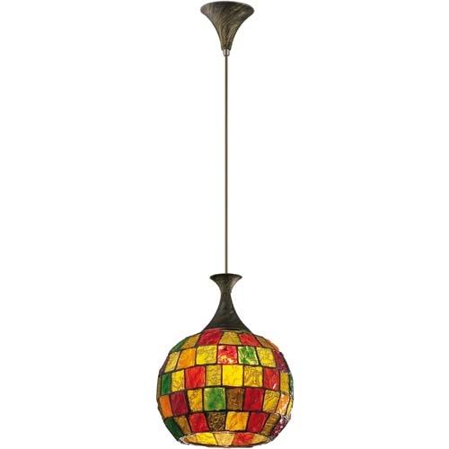 Светильник подвесной Odeon lightСветильники подвесные<br>Количество ламп: 1, Мощность: 60, Назначение светильника: для комнаты, Стиль светильника: мозаика, Материал светильника: металл, Диаметр: 250, Высота: 900, Длина (мм): 250, Ширина: 250, Тип лампы: накаливания, Патрон: Е27, Цвет арматуры: дерево, Коллекция: velute<br>