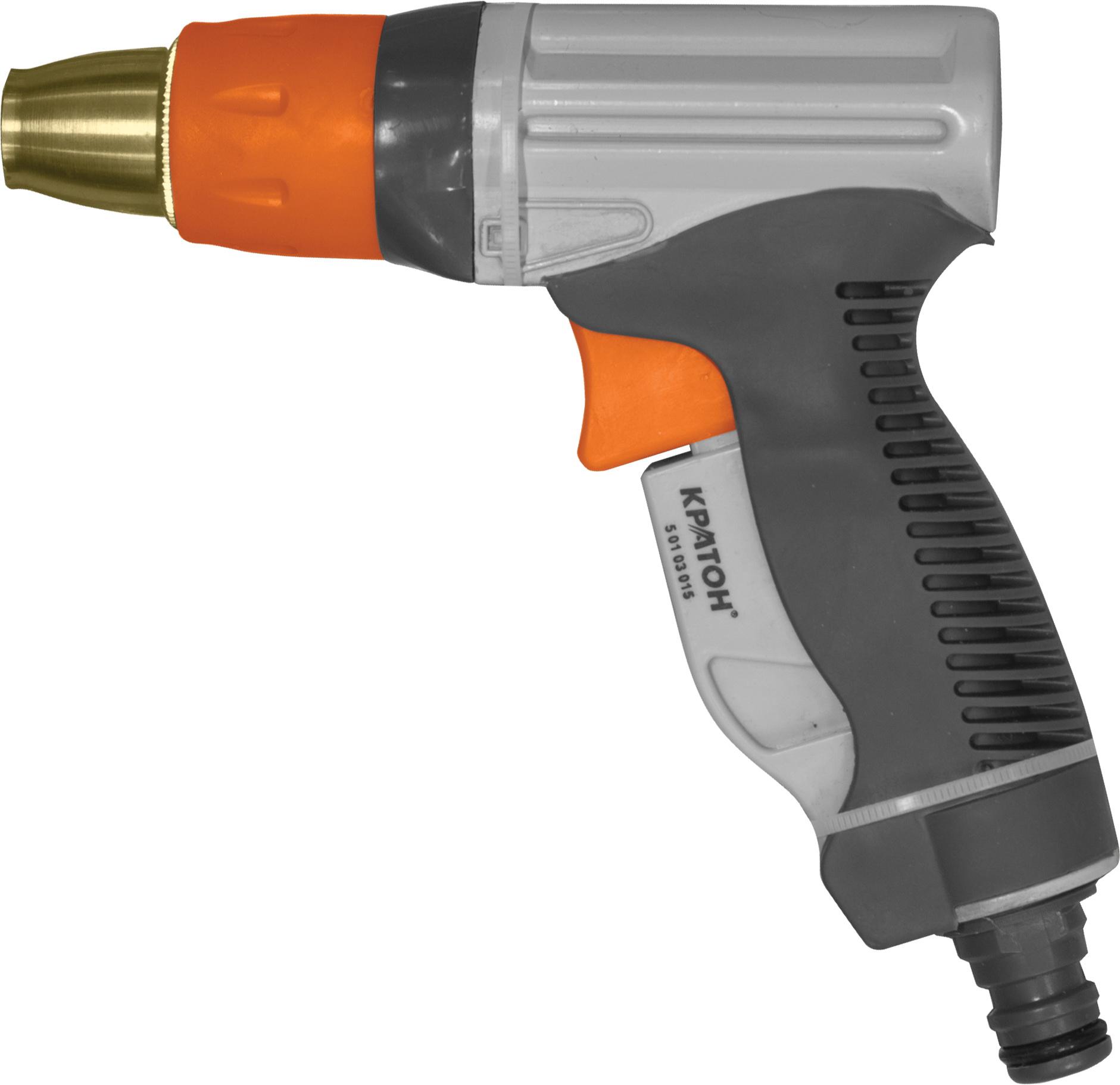 Пистолет для полива КРАТОНПистолеты для шлангов и распылители<br>Тип: пистолет-распылитель, Материал: пластик, Регулируемый: есть<br>