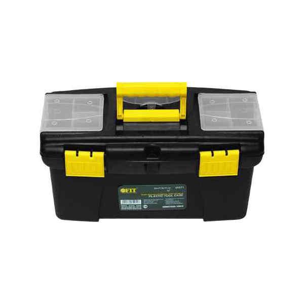 Ящик для инструментов FitЯщики и кейсы<br>Назначение: для ручного инструмента, Форм-фактор: ящик(кейс), Длина (мм): 490, Ширина: 275, Высота: 240, Материал: пластик<br>