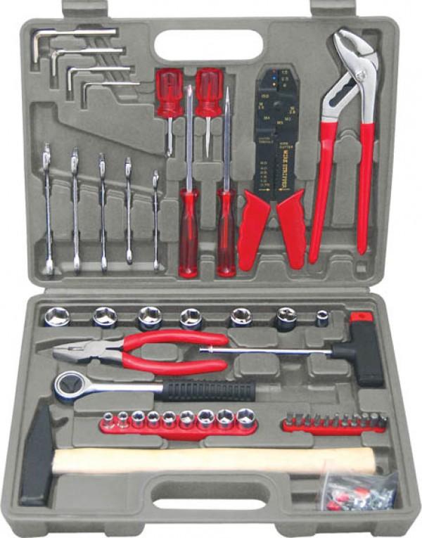 Набор инструментов в чемодане, 100 предметов Fit