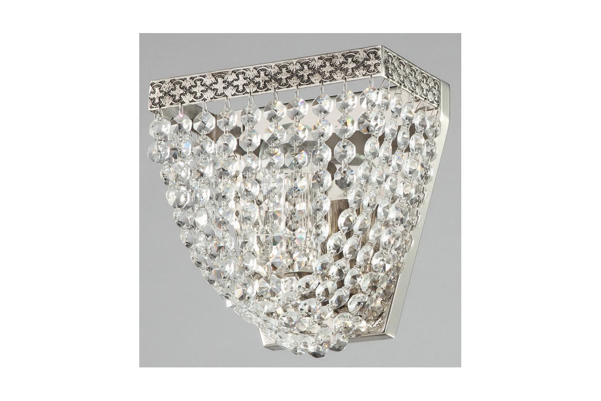 Бра MaytoniНастенные светильники и бра<br>Тип: настенный, Назначение светильника: для комнаты, Стиль светильника: классика, Материал светильника: металл, Тип лампы: накаливания, Количество ламп: 1, Мощность: 60, Патрон: Е27, Цвет арматуры: никель, Высота: 165, Диаметр: 170, Коллекция: m583<br>