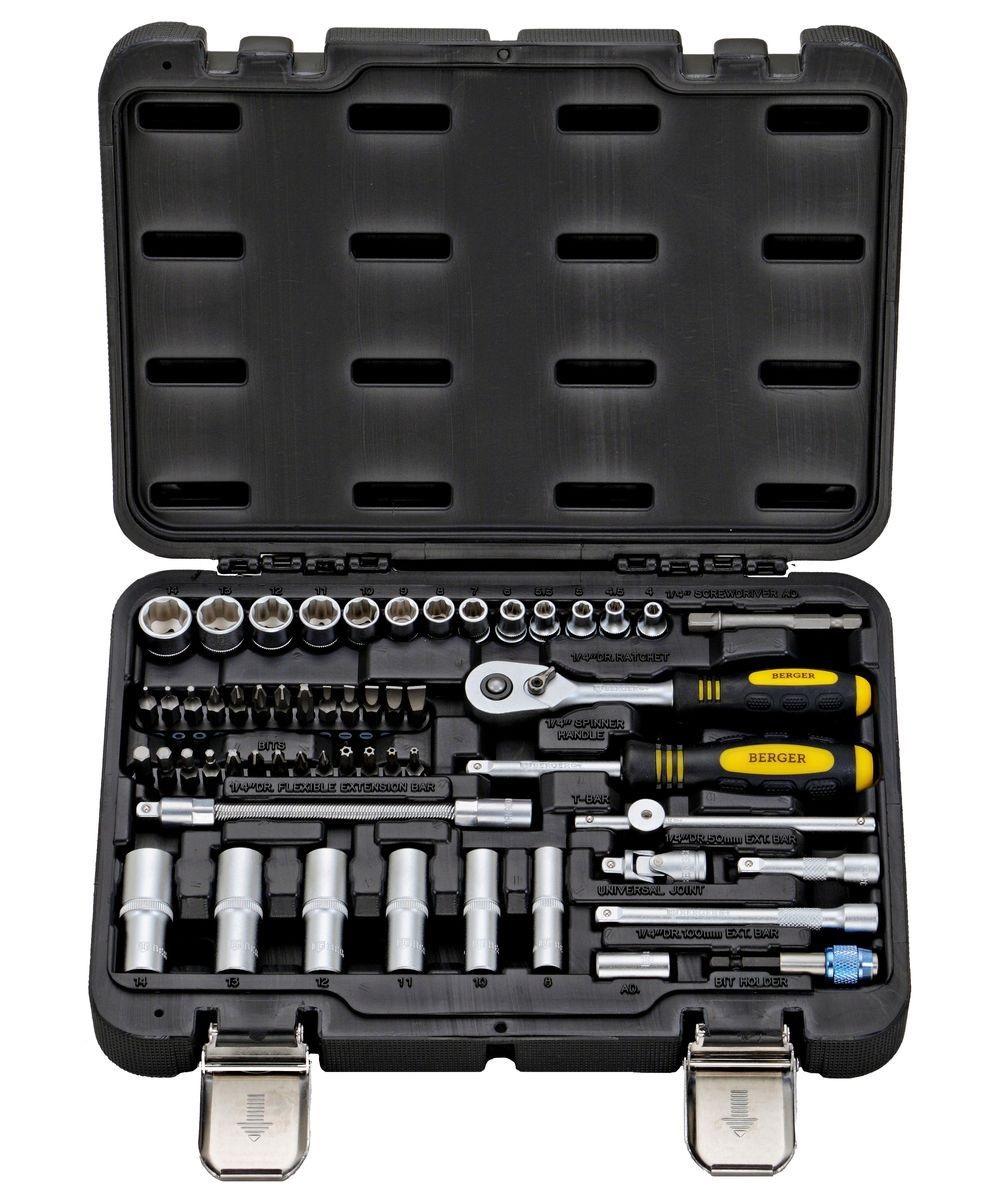 Набор инструментов в чемодане, 55 предметов Berger