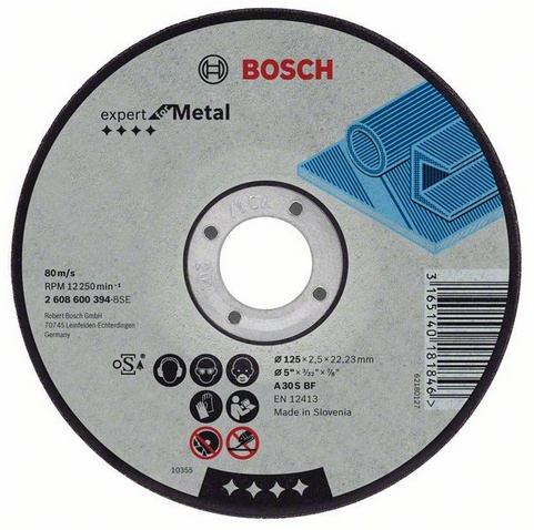 Фото 2/2 Expert for metal 180 Х 3,0 Х 22 выпуклый, Круг отрезной