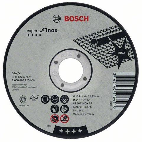 Expert for inox 180 Х 2,0 Х 22 по нержавейке, Круг отрезной