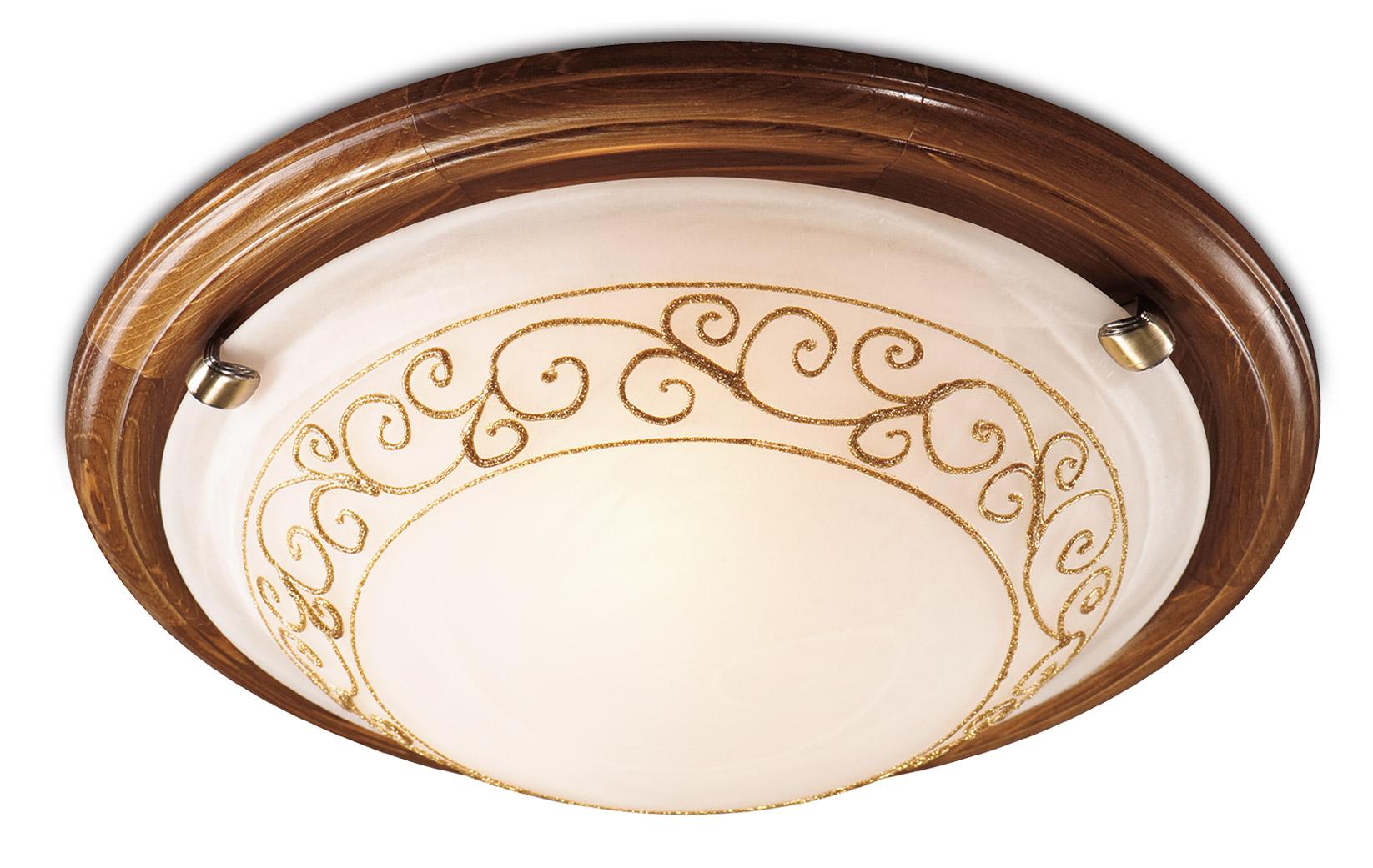Светильник настенно-потолочный СОНЕКССветильники настенно-потолочные<br>Мощность: 100,<br>Количество ламп: 1,<br>Назначение светильника: для комнаты,<br>Стиль светильника: модерн,<br>Материал светильника: металл, дерево, стекло,<br>Тип лампы: накаливания,<br>Диаметр: 360,<br>Патрон: Е27,<br>Цвет арматуры: бронза<br>