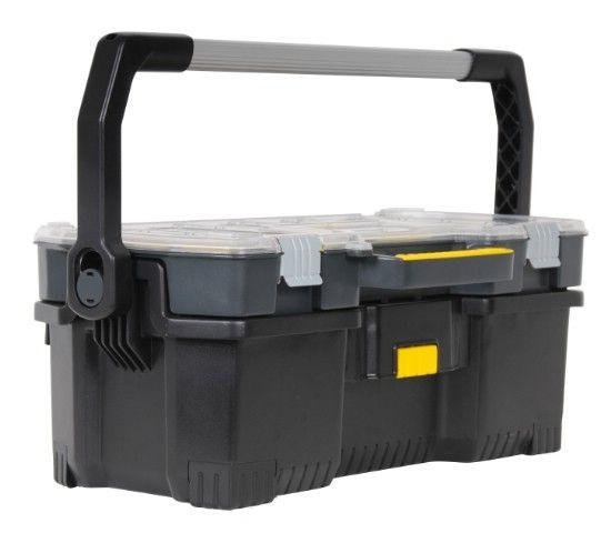 Ящик для инструментов StanleyЯщики и кейсы<br>Назначение: для ручного инструмента,<br>Форм-фактор: ящик(кейс),<br>Длина (мм): 670,<br>Ширина: 323,<br>Высота: 251,<br>Материал: пластик<br>