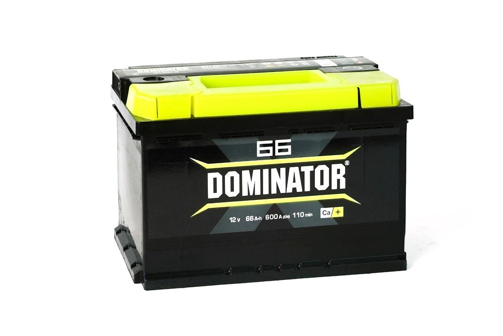 Автомобильный аккумулятор DominatorАвтомобильные аккумуляторы<br>Емкость аккумулятора: 66,<br>Тип: для легковых а/м,<br>Полярность: обратная,<br>Тип аккумулятора: гибридный,<br>Пусковой ток: 610,<br>Размеры: 240х175х190<br>