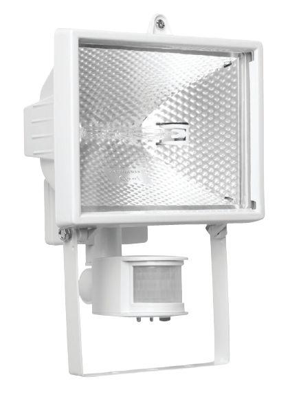 Галогенный прожектор NavigatorПрожекторы<br>Мощность: 500, Количество ламп: 1, Тип лампы: галогенная, Патрон: R7s, Цвет арматуры: белый, Датчик движения: есть, Тип: стационарный, Назначение прожектора: уличный<br>