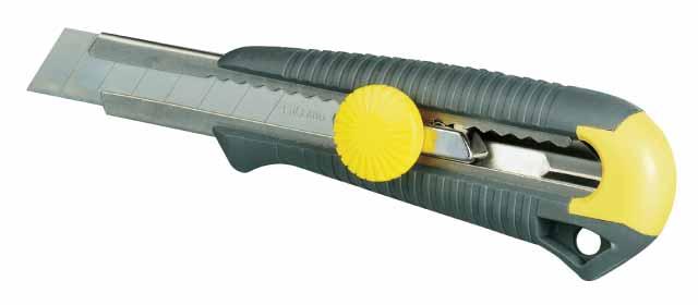 Нож строительный StanleyНожи ручные<br>Тип: нож,<br>Тип ножа: с сегментным лезвием,<br>Длина лезвия: 100,<br>Ширина лезвия: 18,<br>Длина (мм): 165<br>