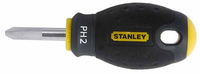 Отвертка крестовая StanleyОтвертки<br>Тип наконечника: PH (крест),<br>Тип отвертки: стандартная,<br>Длина (мм): 30<br>