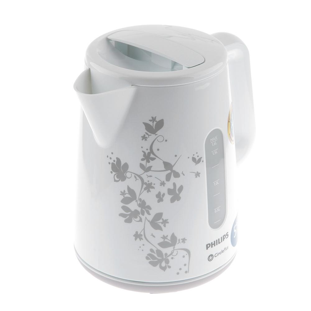 Чайник PhilipsЧайники и термопоты<br>Тип: электрочайник,<br>Мощность: 2400,<br>Объем: 1.5,<br>Цвет: белый,<br>Нагревательный элемент: дисковый,<br>Материал: пластик,<br>Дорожный: нет,<br>Индикация заполнения: есть,<br>Защита от включения без воды: есть,<br>Гарантия на модель: 24<br>