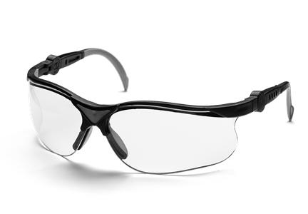 Очки защитные HusqvarnaЗащитные очки<br>Тип очков: открытые, Цвет: прозрачный, Материал: пластик, Защита от ультрафиолетового излучения: есть<br>