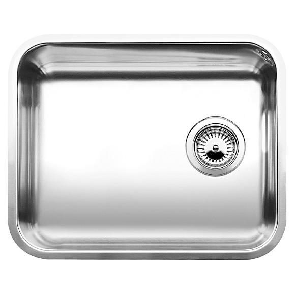 Мойка кухонная из нержавеющей стали BlancoМойки кухонные<br>Тип установки кухонной мойки: подстольный,<br>Материал изготовления кухонной мойки: нержавеющая сталь,<br>Отверстие под смеситель: нет,<br>Форма кухонной мойки: прямоугольная,<br>Количество чаш кухонной мойки: одна чаша,<br>Длина (мм): 500,<br>Ширина: 400,<br>Глубина: 175,<br>Цвет: сталь,<br>Страна происхождения: Германия,<br>Диаметр сливного отверстия: 3 1/2<br>