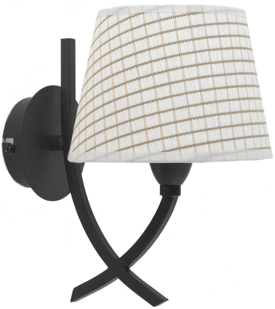 Бра LamplandiaНастенные светильники и бра<br>Тип: бра,<br>Назначение светильника: для комнаты,<br>Стиль светильника: классика,<br>Материал светильника: металл, ткань,<br>Количество ламп: 1,<br>Мощность: 40,<br>Патрон: Е14,<br>Цвет арматуры: цветной,<br>Длина (мм): 170,<br>Ширина: 230,<br>Высота: 240<br>