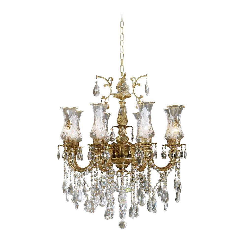 Люстра LamplandiaЛюстры<br>Назначение светильника: для комнаты,<br>Стиль светильника: модерн,<br>Тип: подвесная,<br>Материал светильника: металл, стекло, хрусталь,<br>Материал плафона: стекло,<br>Материал арматуры: металл,<br>Длина (мм): 760,<br>Ширина: 760,<br>Высота: 620,<br>Количество ламп: 8,<br>Тип лампы: накаливания,<br>Мощность: 40,<br>Патрон: Е14,<br>Цвет арматуры: золото<br>