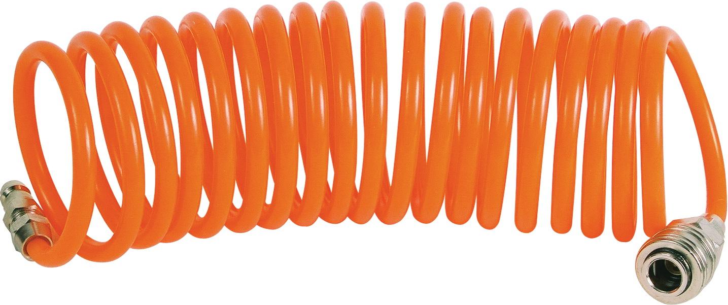 Шланг спиральный для пневмоинструмента КРАТОНШланги воздушные<br>Тип шланга: спиральный,<br>Длина (м): 15,<br>Материал: полиэтилен<br>
