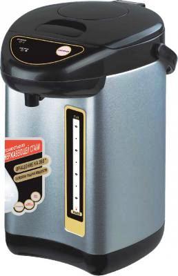 Термопот IritЧайники и термопоты<br>Тип: термопот, Мощность: 750, Объем: 3.5, Цвет: черный/серебристый, Нагревательный элемент: дисковый, Материал: металл, Дорожный: нет, Индикация заполнения: есть<br>