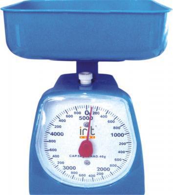 Весы кухонные IritВесы кухонные<br>Максимальная нагрузка: 3,<br>Тип: механические,<br>Конструкция весов: чаша,<br>Материал корпуса: пластик,<br>Материал платформы: пластик<br>
