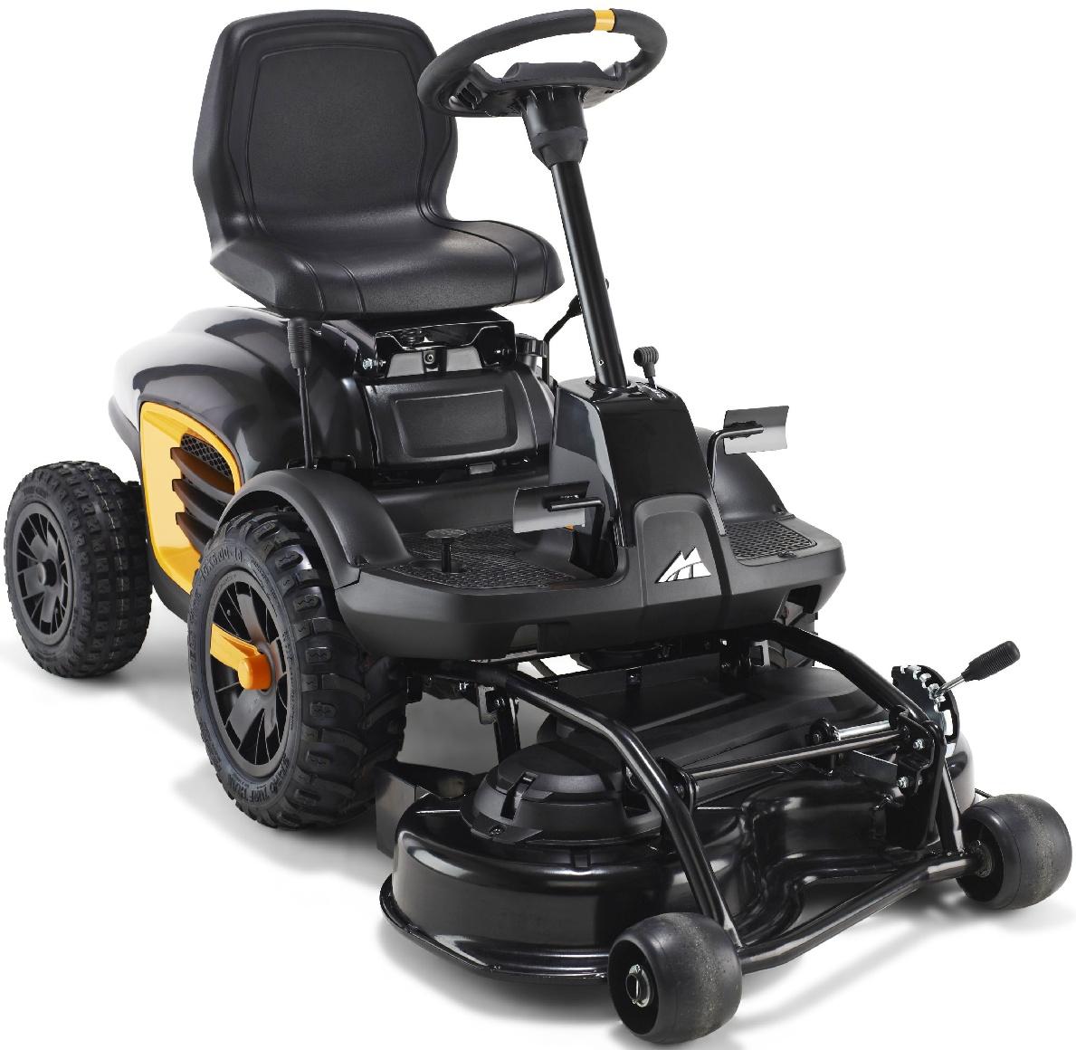 Садовый райдер MccullochРайдеры и садовые тракторы<br>Тип трактора: райдер,<br>Производитель двигателя: BRIGGS&amp;amp;STRATTON,<br>Модель двигателя: PowerBuilt,<br>Мощность: 6500,<br>Мощность (лс): 8.8,<br>Рабочий объем: 344,<br>Количество цилиндров: 1,<br>Напряжение аккумулятора: 12,<br>Емкость аккумулятора: 18,<br>Вид топлива: бензин,<br>Бак: 3.3,<br>Тип смазки: впрыск,<br>Тип трансмиссии: гидростатическая,<br>Трансмиссия: с педальным управлением,<br>Макс. скорость вперед: 7.5,<br>Макс. скорость назад: 7.5,<br>Задний ход: есть,<br>Ширина обработки: 850,<br>Диаметр необработанного круга: 1250,<br>Материал режущей деки: сталь,<br>Режимы стрижки: мульчирование,выброс травы назад,<br>Макс. высота среза: 70,<br>Мин. высота среза: 25,<br>Регулировка высоты: пошаговая,<br>Муфта включения ножа: механическая,<br>Количество ножей: 2,<br>Высота спинки сиденья: средняя,<br>Материал сиденья: винил,<br>Размер передних шин: 160/60-10,<br>Размер задних шин: 130/50-8,<br>Колесная база: 31.5,<br>Длина (мм): 1960,<br>Ширина: 890,<br>Высота: 1070,<br>Вес нетто: 190,<br>Звуковое давление воздуха: 84,<br>Вибрации на рулевом колесе: 4.3,<br>Вибрации на сиденье: 1.3<br>