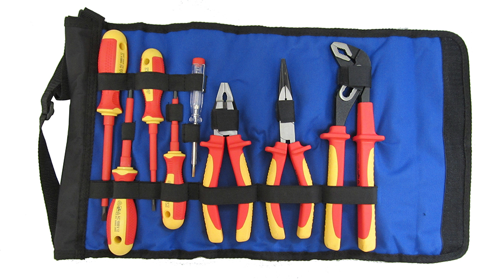 Набор диэлектрических инструментов в сумке-рукаве на ремне, 8 предметов Unipro