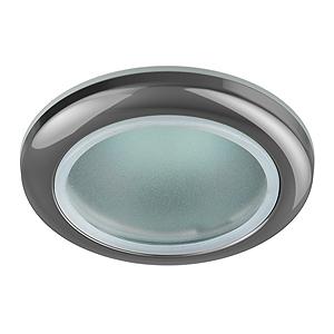 Светильник для ванной комнаты ЭРАСветильники встраиваемые<br>Стиль светильника: модерн,<br>Диаметр: 75,<br>Форма светильника: круг,<br>Материал светильника: металл,<br>Количество ламп: 1,<br>Тип лампы: галогенная,<br>Мощность: 50,<br>Патрон: GU5.3,<br>Цвет арматуры: хром,<br>Назначение светильника: для ванной комнаты<br>