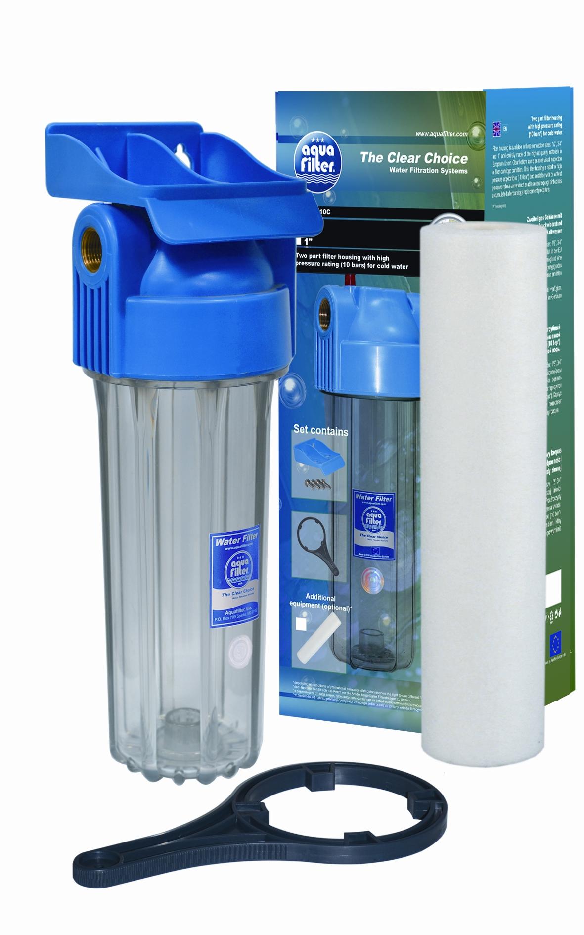 Фильтр магистральный для воды AquafilterФильтры для воды<br>Тип фильтра для воды: магистральный,<br>Назначение фильтра для воды: для холодной воды,<br>Функциональные особенности фильтра для воды: механической очистки,<br>Размер фильтра: 10,<br>Подключение к водопроводу: Есть,<br>Давление: 10 бар<br>