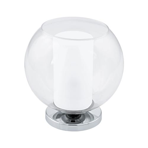 Лампа настольная EgloЛампы настольные<br>Тип настольной лампы: декоративная,<br>Назначение светильника: для гостиной,<br>Стиль светильника: модерн,<br>Материал светильника: металл,<br>Количество ламп: 1,<br>Тип лампы: накаливания,<br>Мощность: 60,<br>Патрон: Е27,<br>Цвет арматуры: хром<br>