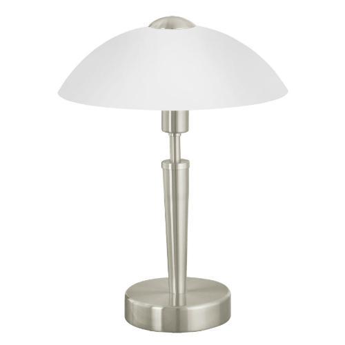 Лампа настольная EgloЛампы настольные<br>Тип настольной лампы: декоративная,<br>Назначение светильника: для гостиной,<br>Стиль светильника: модерн,<br>Материал светильника: металл,<br>Диаметр: 260,<br>Высота: 350,<br>Количество ламп: 1,<br>Тип лампы: накаливания,<br>Мощность: 60,<br>Патрон: Е14,<br>Цвет арматуры: хром<br>