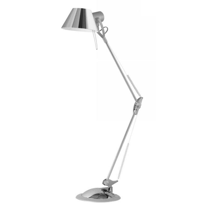 Лампа настольная EgloЛампы настольные<br>Тип настольной лампы: ученическая/офисная,<br>Назначение светильника: для гостиной,<br>Стиль светильника: модерн,<br>Материал светильника: металл,<br>Длина (мм): 820,<br>Количество ламп: 1,<br>Тип лампы: накаливания,<br>Мощность: 60,<br>Патрон: Е27,<br>Цвет арматуры: хром<br>