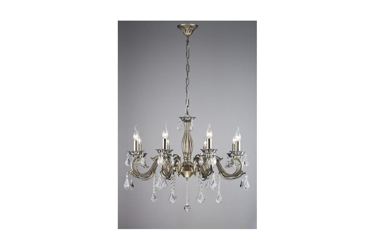 Люстра MaytoniЛюстры<br>Назначение светильника: для гостиной,<br>Стиль светильника: классика,<br>Тип: подвесная,<br>Материал светильника: металл, хрусталь,<br>Материал арматуры: металл,<br>Диаметр: 760,<br>Высота: 570,<br>Количество ламп: 8,<br>Тип лампы: накаливания,<br>Мощность: 60,<br>Патрон: Е14,<br>Цвет арматуры: золото,<br>Коллекция: arm245<br>