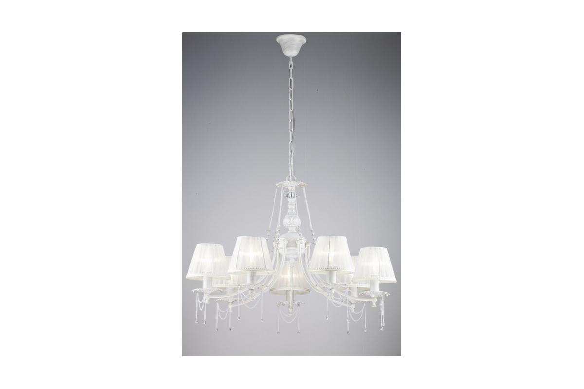 Люстра MaytoniЛюстры<br>Назначение светильника: для гостиной,<br>Стиль светильника: классика,<br>Тип: подвесная,<br>Материал светильника: металл, ткань,<br>Материал плафона: ткань,<br>Материал арматуры: металл,<br>Диаметр: 750,<br>Высота: 570,<br>Количество ламп: 7,<br>Тип лампы: накаливания,<br>Мощность: 40,<br>Патрон: Е14,<br>Цвет арматуры: золото<br>