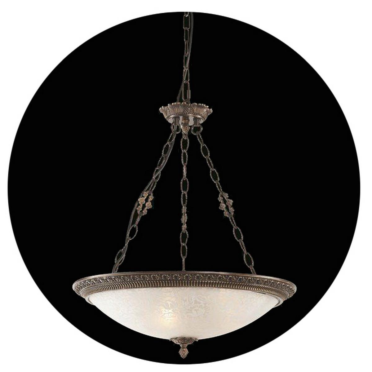 Светильник подвесной MaytoniСветильники подвесные<br>Количество ламп: 4,<br>Мощность: 40,<br>Назначение светильника: для гостиной,<br>Стиль светильника: классика,<br>Материал светильника: металл, стекло,<br>Диаметр: 370,<br>Высота: 470,<br>Тип лампы: накаливания,<br>Патрон: Е14,<br>Цвет арматуры: бронза<br>