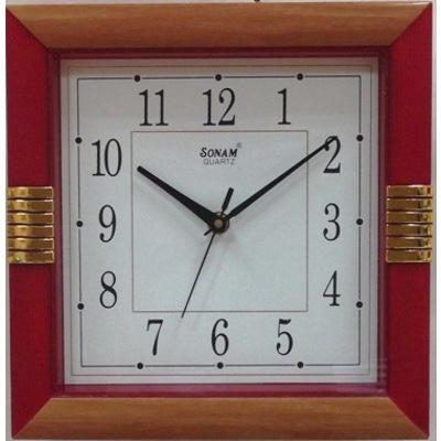 Часы настенные SonamЧасы<br>Тип: настенные, Тип часов: механический, Форма: квадратная, Напряжение: 1,5, Источники питания: AA<br>