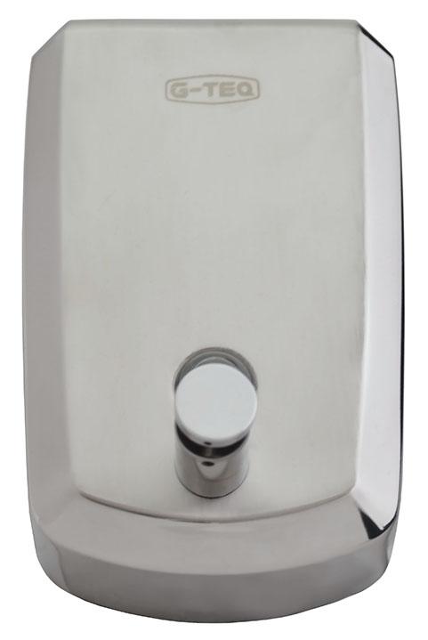 Диспенсер для жидкого мыла G-teqДиспенсеры<br>Назначение: для жидкого мыла,<br>Цвет покрытия: хром матовый,<br>Материал: металл,<br>Способ крепления: на стол<br>