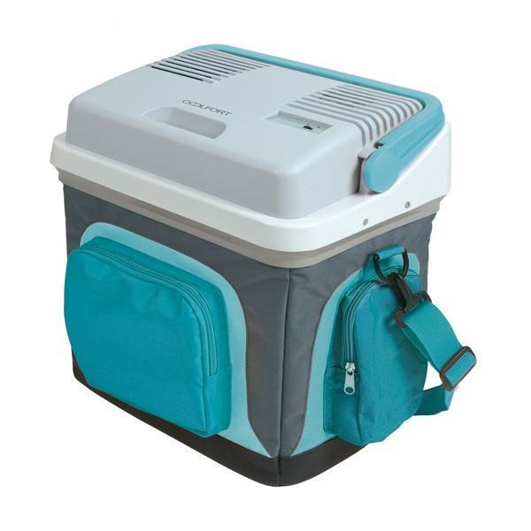 Сумка-холодильник CoolfortАвтомобильные холодильники<br>Мощность: 37,<br>Объем: 25,<br>Тип: термоконтейнер,<br>Тип питания: 12/220В,<br>Температура: +5-+65,<br>Материал: пластик/нейлон,<br>Цвет: голубой,<br>Размеры: 420x420x280,<br>Вес нетто: 3<br>