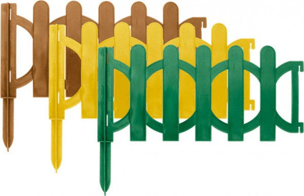 Поддержка для растений FitДекоративные ограждения<br>Тип: заборчик, Длина (мм): 1900, Высота: 150, Материал: пластик, Цвет: желтый, Вес нетто: 0.5<br>