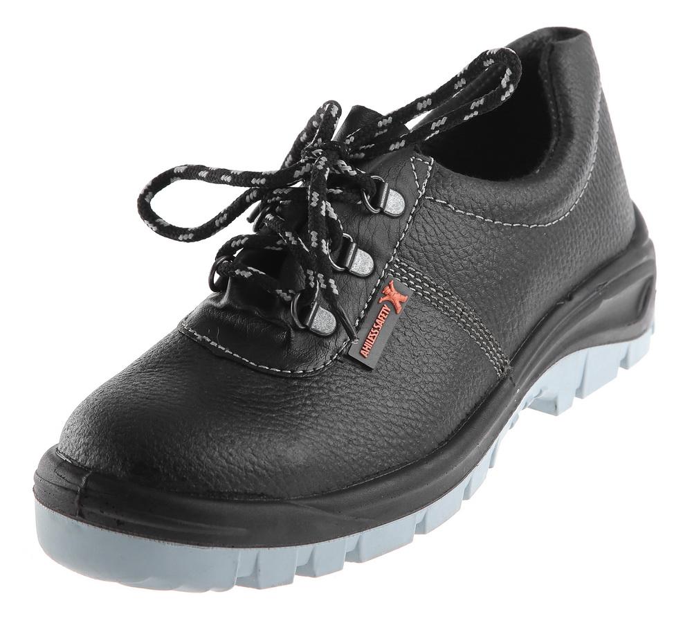 Полуботинки рабочие АХИЛЕСС САФЕТИРабочая обувь<br>Тип: полуботинки,<br>Сезон: демисезон,<br>Размер: 37,<br>Пол: мужской,<br>Цвет: черный,<br>Материал верха: натуральная кожа,<br>Металлический подносок: есть,<br>Подкладка: Cambrelle,<br>Подошва: ПУ/ТПУ<br>