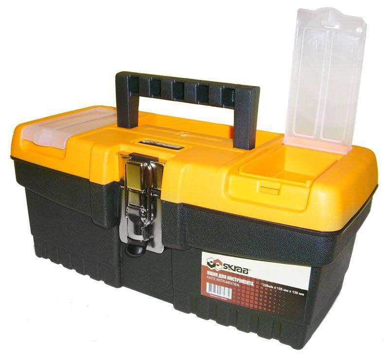 Ящик для инструментов SkrabЯщики и кейсы<br>Назначение: для ручного инструмента, Форм-фактор: ящик(кейс), Длина (мм): 486, Ширина: 267, Высота: 242, Материал: пластик<br>