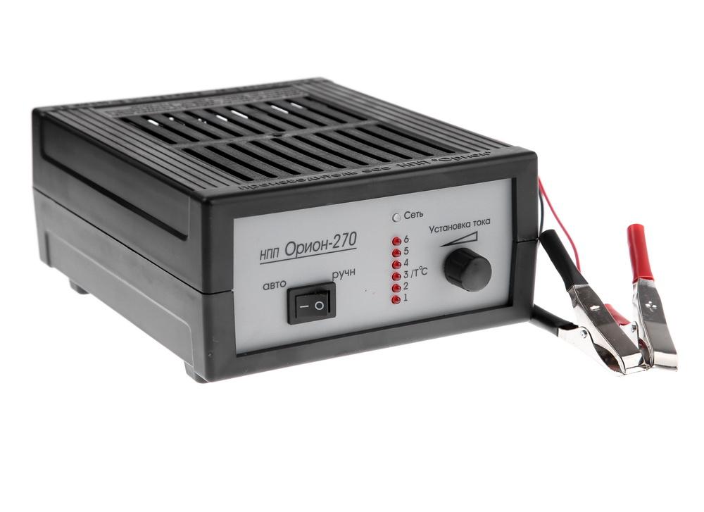 Зарядное устройство ОРИОНЗарядные и пуско-зарядные устройства<br>Максимальный ток заряда: 7,<br>Минимальный ток заряда: 0.4,<br>Пиковый выходной ток: 7,<br>Назначение зарядного устройства: зарядное,<br>Напряжение аккумулятора: 12,<br>Размеры: 155х85х200,<br>Вес нетто: 0.838,<br>Индикатор тока: светодиодный,<br>Рабочая температура: -10 - +40<br>