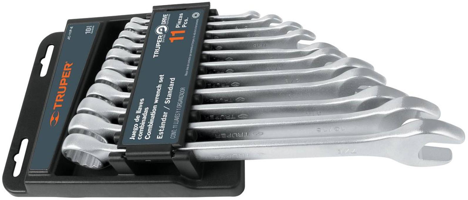 Набор комбинированных гаечных ключей в чехле, 11 шт. Truper Jc-11m-e 15779