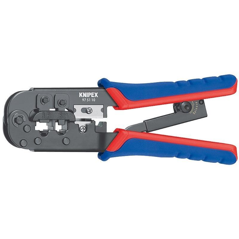 Пресс-клещи для обжима проводов Knipex - KnipexКлещи<br>Тип: кримперы(RJ45)<br>