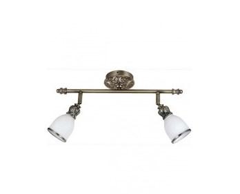 Спот LamplandiaСпоты<br>Тип: спот,<br>Стиль светильника: модерн,<br>Материал светильника: металл, стекло,<br>Количество ламп: 2,<br>Тип лампы: накаливания,<br>Мощность: 40,<br>Патрон: Е14,<br>Цвет арматуры: латунь<br>