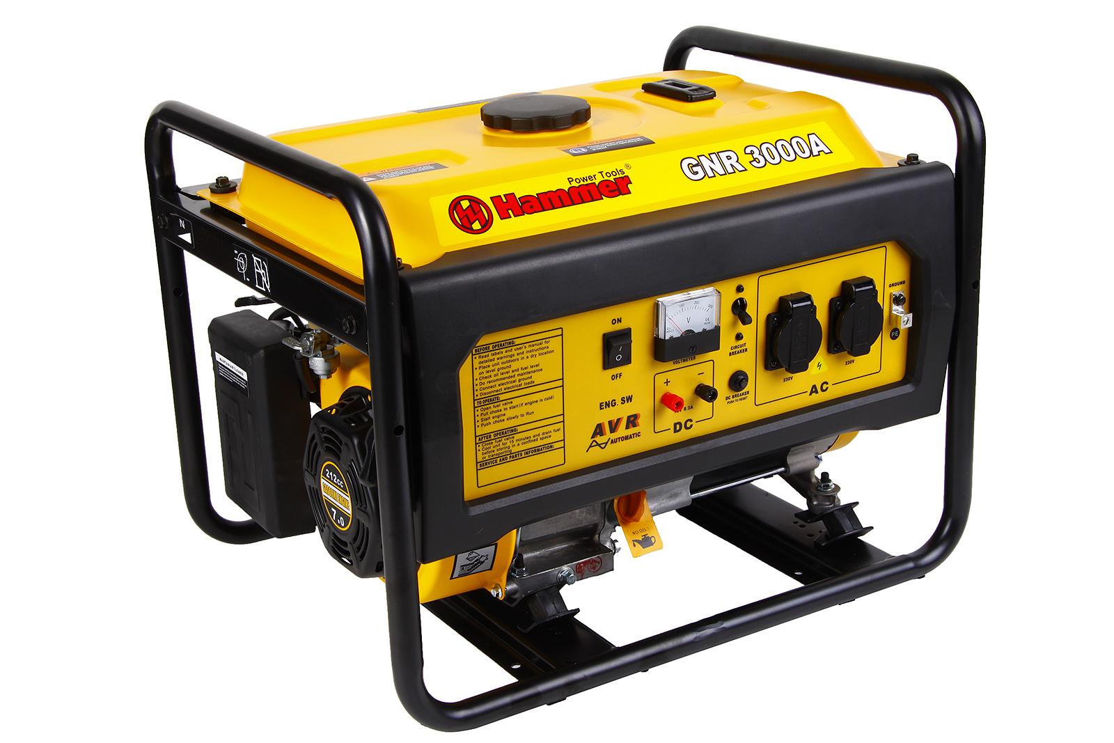 Бензиновый генератор Hammer Gnr3000 а бензиновый