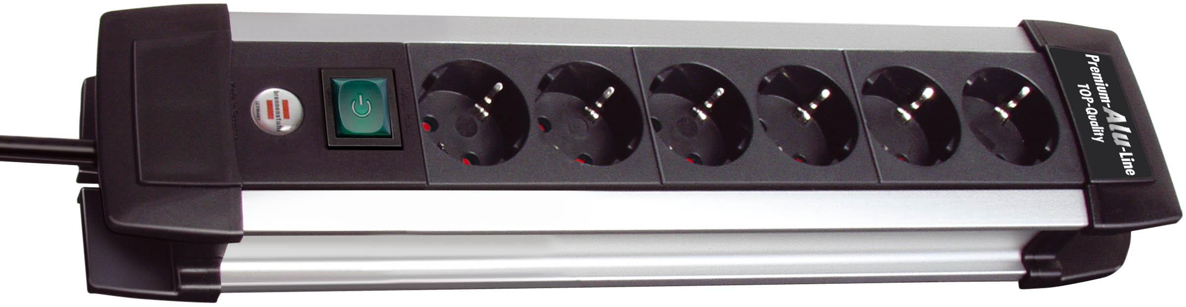 Удлинитель BrennenstuhlУдлинители и сетевые фильтры<br>Количество гнезд: 6,<br>Заземление: есть,<br>Тип удлинителя: удлинитель,<br>Марка кабеля: ПВС,<br>Число / сечение жил: 3x1.5,<br>Длина (м): 3,<br>Выключатель: есть,<br>Цвет: черный,<br>Шторки: нет,<br>Наличие катушки: нет,<br>USB порт: нет,<br>Сила тока: 16,<br>Автоматическое сматывание кабеля: нет,<br>Степень защиты от пыли и влаги: IP 20<br>