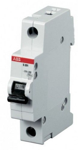 Автомат AbbАвтоматические выключатели<br>Номинальный ток: 63,<br>Тип выключателя: автомат,<br>Количество полюсов: 1,<br>Номинальная отключающая способность: 6000,<br>Степень защиты от пыли и влаги: IP 20,<br>Количество модулей: 1<br>